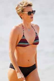 English: Charlize Theron Black Bikini Hawaii‭