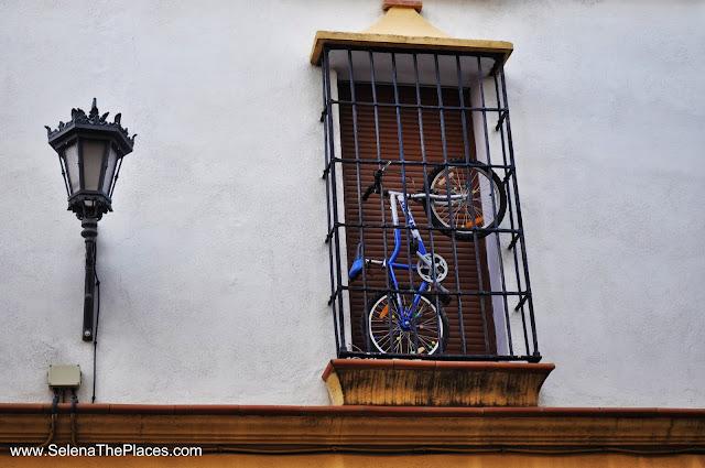 Bicycle Window Ronda Spain