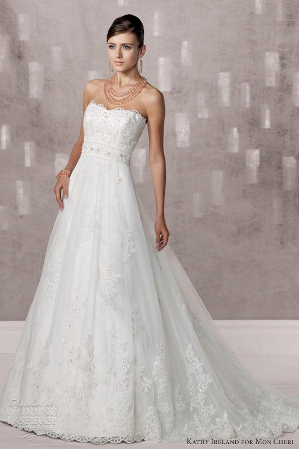 Honey Buy Kathy Ireland For Mon Cheri 2012 FW Wedding Dresses