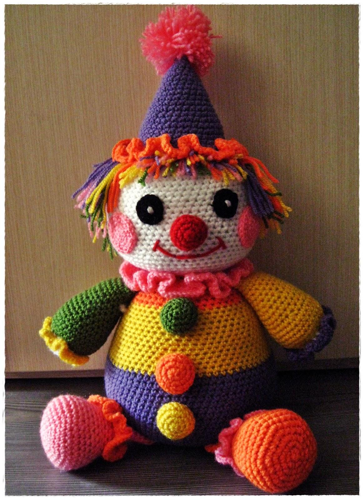 Вязанный клоун фима своими руками