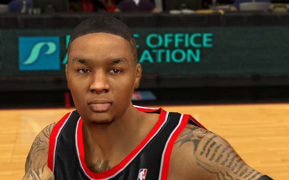 Damian Lillard HD Face Patch NBA2K14