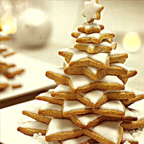 новогодняя елка из печенья