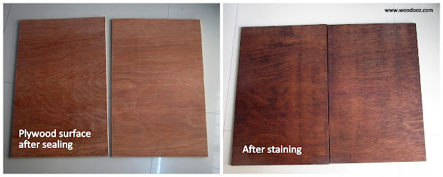 Applying wood stain technique