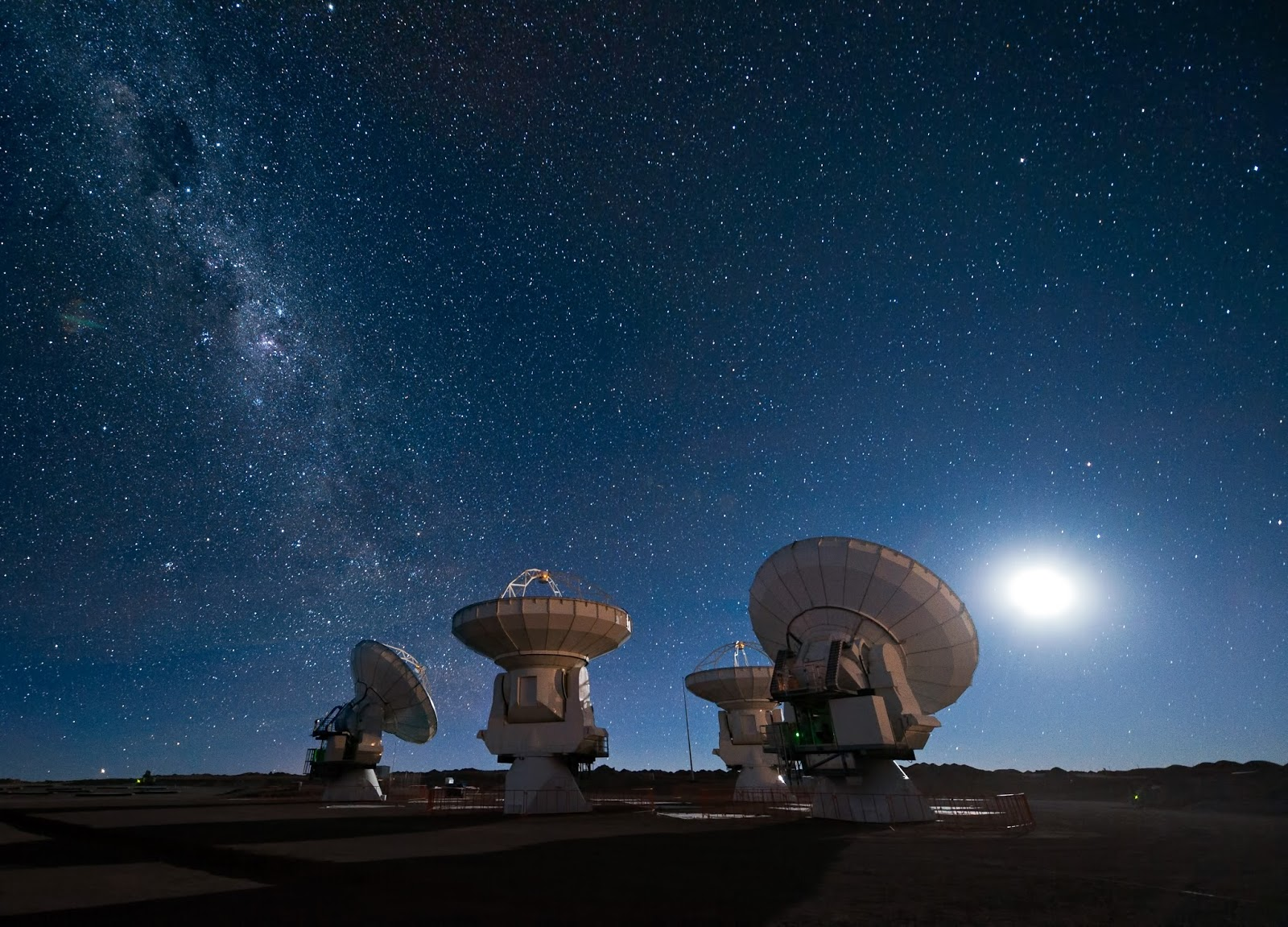 Milky Way Galaxy - ALMA Antennas
