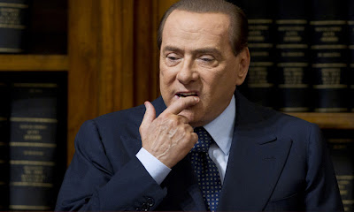 Berlusconi thinking hard