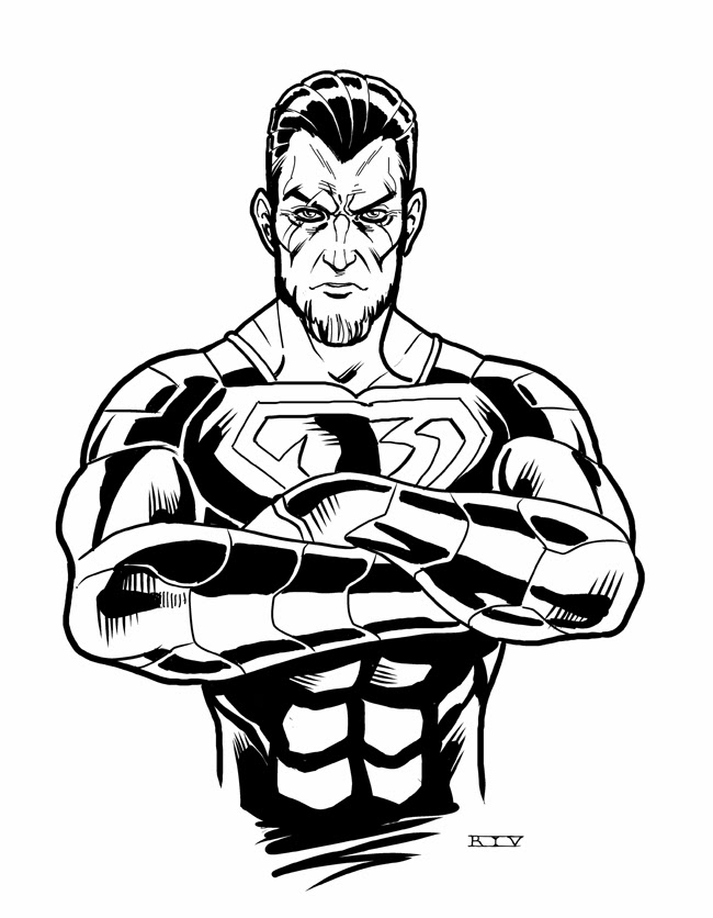 Man Steel General Zod Coloring Pages
