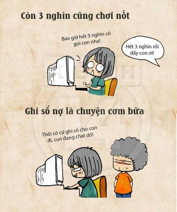 Truyện tranh hài thời chat chit tiệm net 6