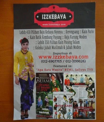 Jom Shopping Kebaya Nyonya di Izzlegacy Boutique
