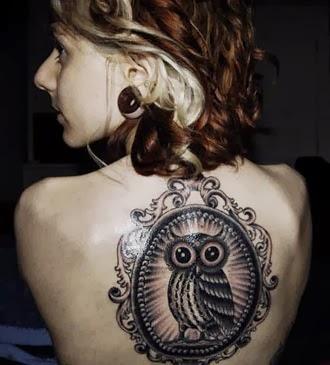 Tatuagens de corujas para fazer nas costas
