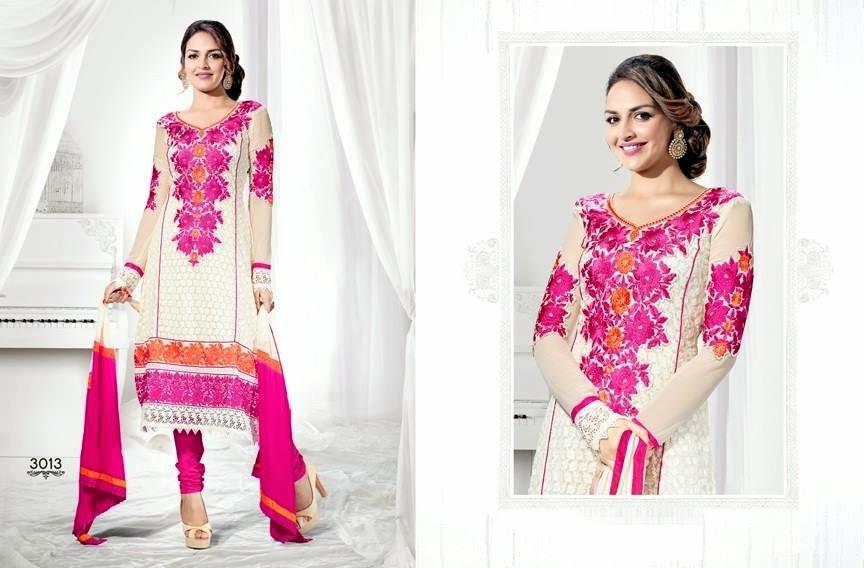 EshaDeolSalwarSuits2013 2014 wwwfashionhuntworldblogspotcom 003 - Wonderful Color Combination Esha Deol Suits