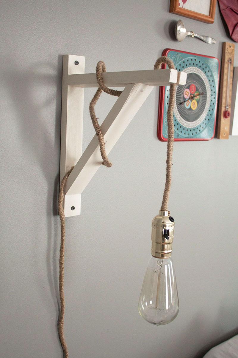 rustic bedside lamps
