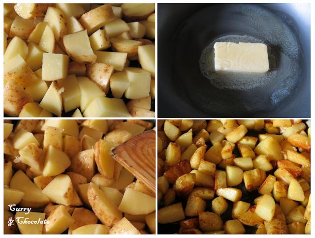 Preparación de las patatas