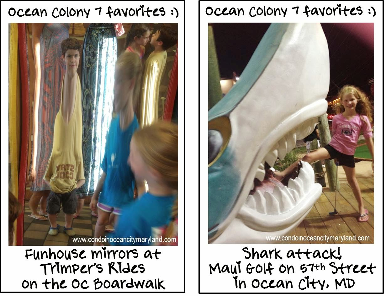 Ocean Colony 7 favorites Trimpers Rides and Maui Golf