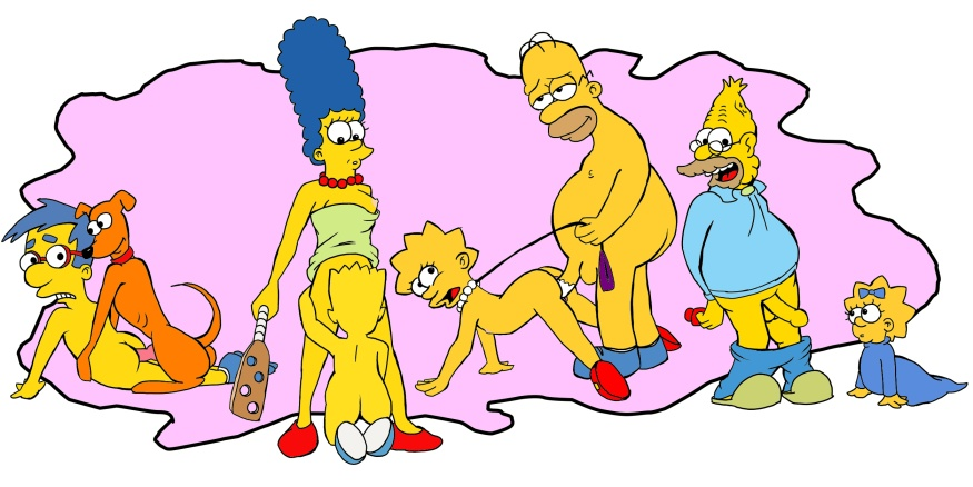 Bart Simpson Hoaman Homer Lisa Maggie Marge
