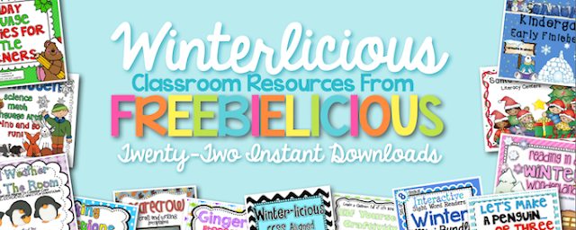 Freebielicious bundle of Pre-K-1 classroom resources on Educents
