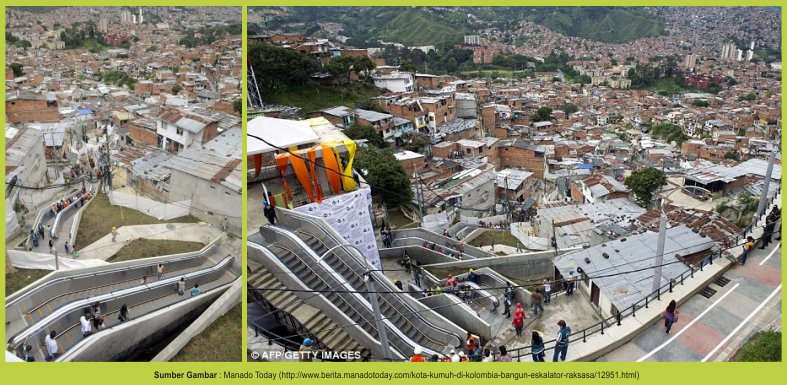 Foto Eskalator Outdoor Terbesar Di Dunia