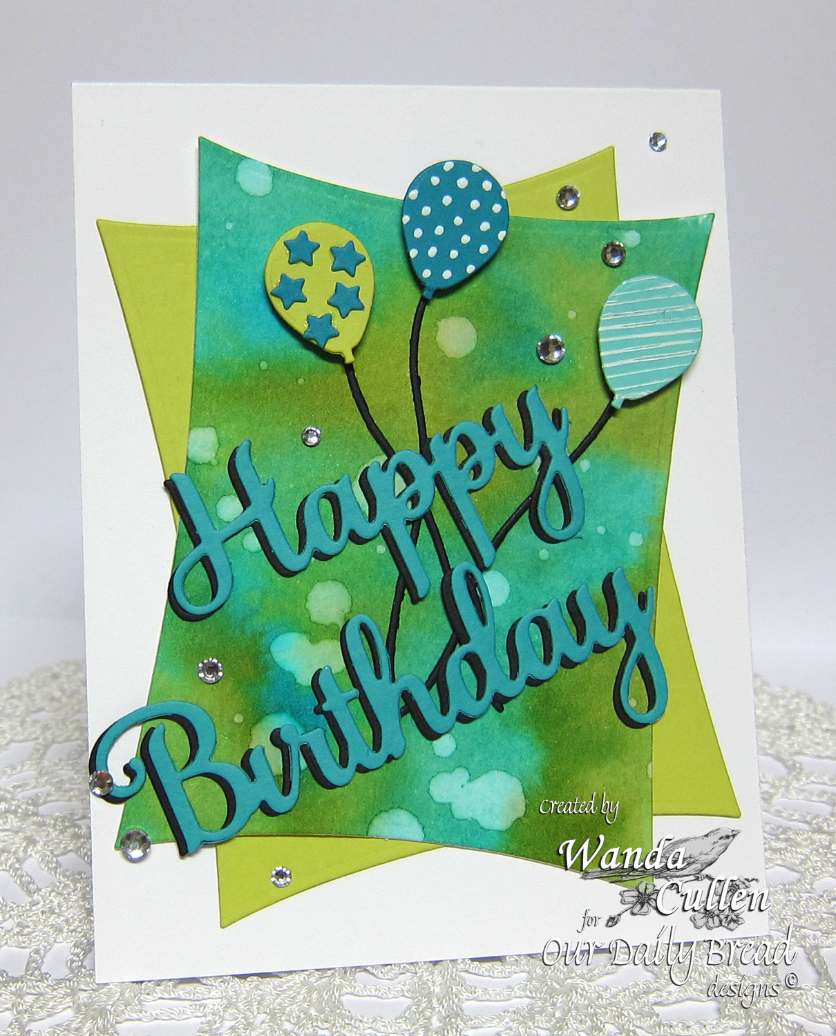 Our Daily Bread Designs Custom Happy Birthday Dies, ODBD Custom Sparkling Stars Dies