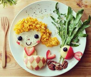 Kreasi makanan lucu untuk anak seperti putri duyung