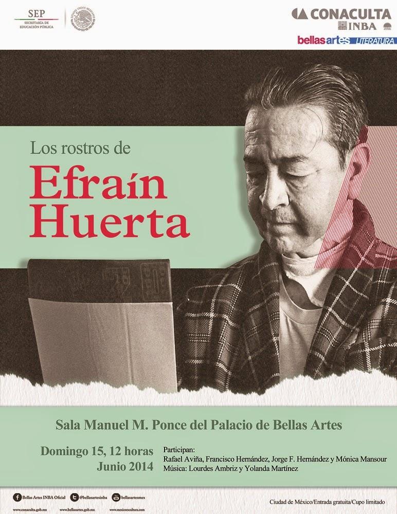 Los rostros de Efraín Huerta en el Palacio de Bellas Artes