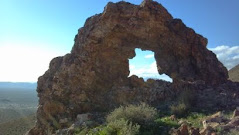 This natural arch is endangered by the hand of man