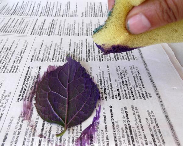 αποτύπωμα φύλλων, τυπώματα σε ύφασμα, τυπώματα φύλλων, τυπώματα με φύλλα,