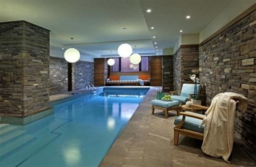 Modern Indoor Poolside