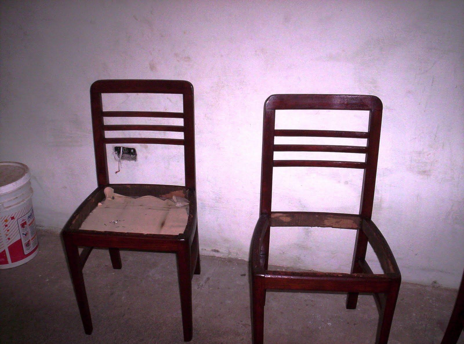 Reciclado de sillas y sillones 6 sillas restauradas for Reciclado de sillones