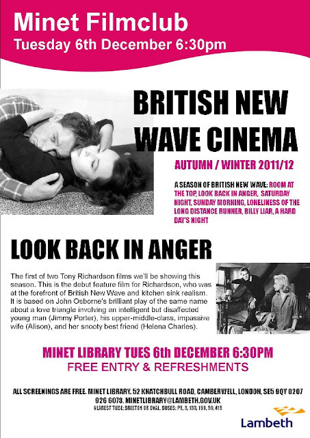 Minet library Look back in Anger flyer on vassallview.com