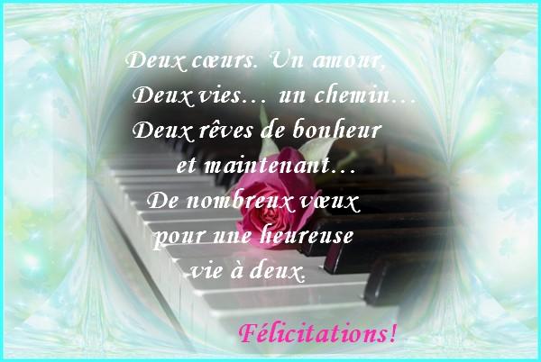 flicitations et meilleurs vux de bonheur - Texte Felicitations Mariage