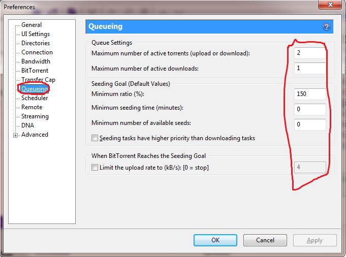 how to stop seeding in utorrent
