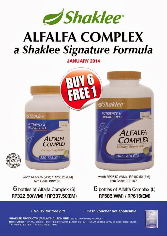 promosi alfalfa complex shaklee januari 2014