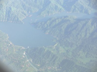 Sempor Reservoir picture taken from a plane