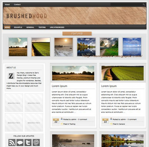 Brushed Wood WordPress Theme