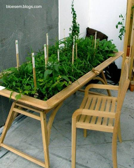 Arquitectura de casas huerto en casa y sobre una mesa - Como hacer un huerto en el jardin ...