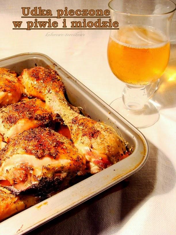 Udka pieczone w piwie i miodzie