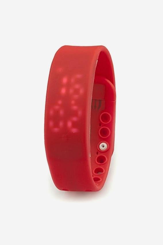 Đồng hồ thông minh dây Silicon ALAMODE PARIS màu hồng
