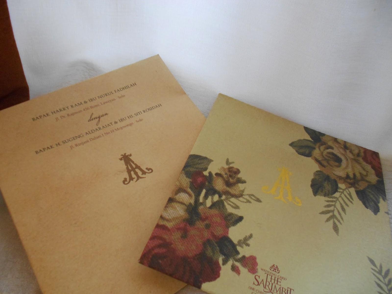 Undangan Pernikahan Single Cover sulur bunga songket