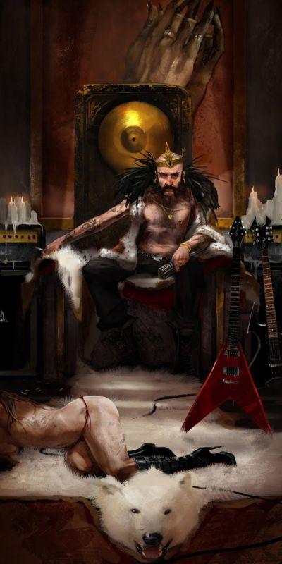 Brenoch Adams ilustrações fantasia ficção Rei do metal