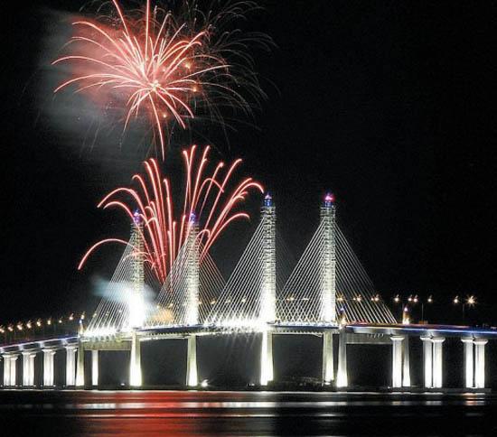 Gambar dan Foto Jambatan Kedua Pulau Pinang, Malaysia