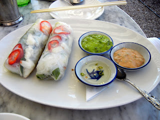 Fresh spring rolls with crab meat at the Elizabeth St. Cafe