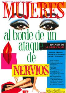Poster original de Mujeres al borde de un ataque de nervios