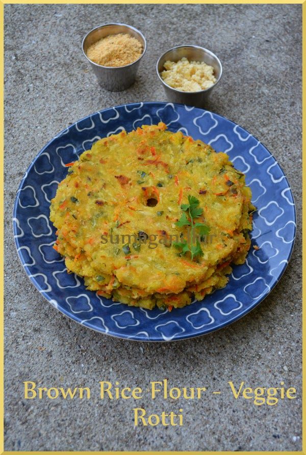 Brown Rice Flour & Vegetable Rotti