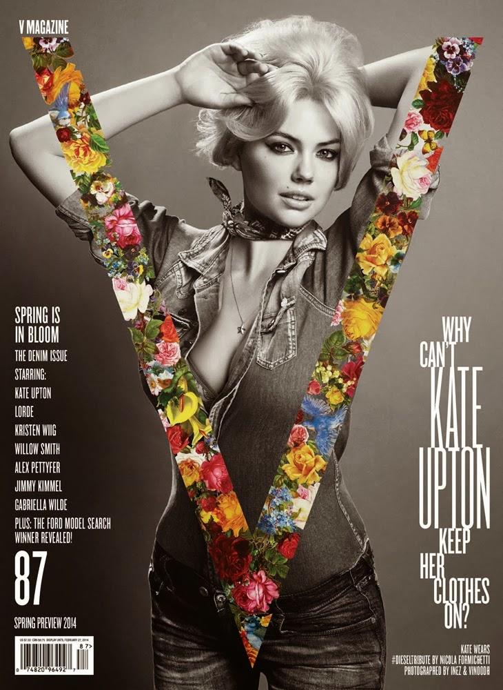Magazine Photoshoot : Kate Upton Photoshot For Inez van Lamsweerde and Vinoodh Matadin V Magazine Spring 2014 Issue