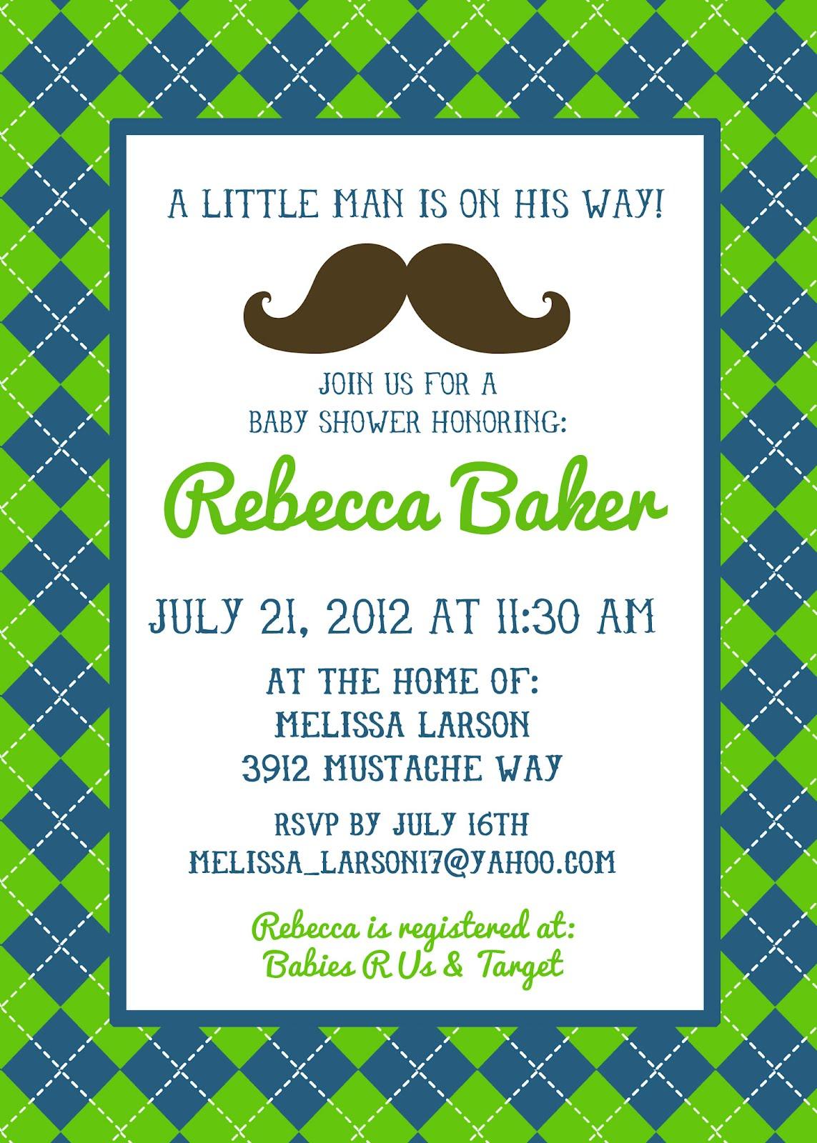 Mustache Invite is beautiful invitation layout