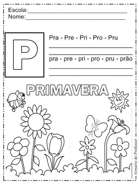 Famosos Plano de Aula - Primavera | Armário do Professor ZH19