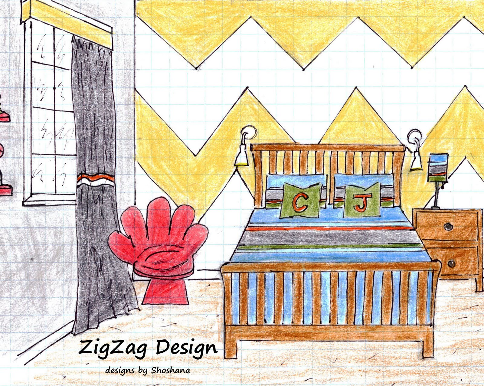 Loveyourroom boys zig zag blvd bedroom revealed for Zig zag bedroom ideas