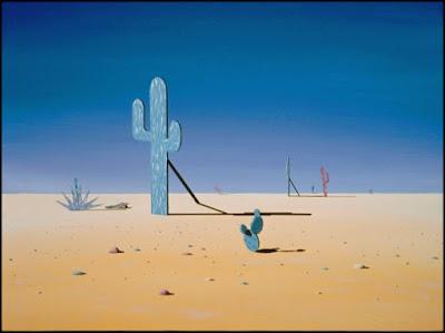 mauve,teal,peach,Santa Fe look,cactus,surreal,surrealism,desert