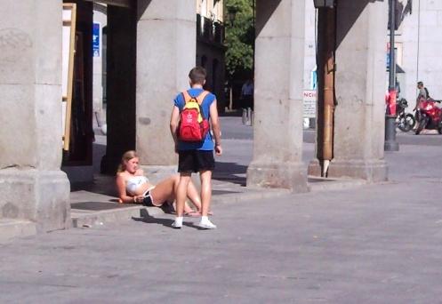 guarras en la calle: