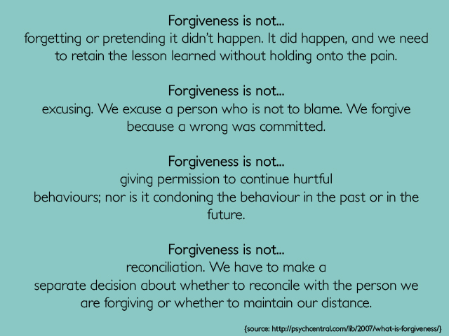 thesis statement on forgiveness