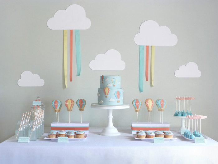 Little Big Company The Blog Hot Air Balloon Themed 1st Birthday By